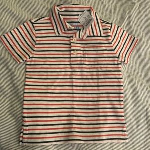 NWT Crewcuts (J Crew kids) Striped cotton polo 2T
